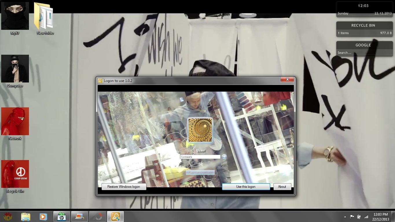 Google themes kpop - G Dragon Who You Windows 7 Theme